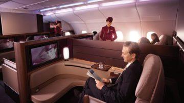 Kabin First Class A380 Qatar Airways Destinasian Indonesia