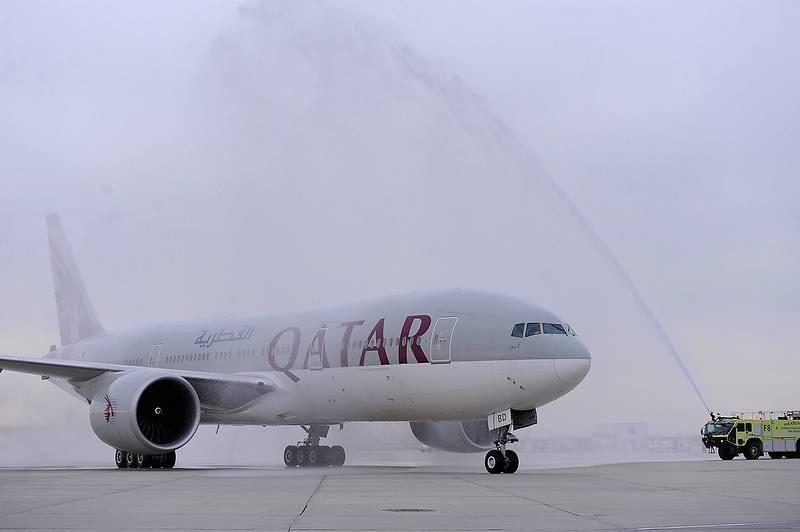 Rute Doha-Philadelphia pp dilayani tiap hari menggunakan Boeing 777-300ER.