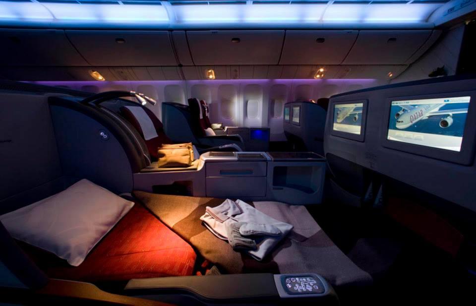 Akomodasi Business Class di armada Boeing 777.
