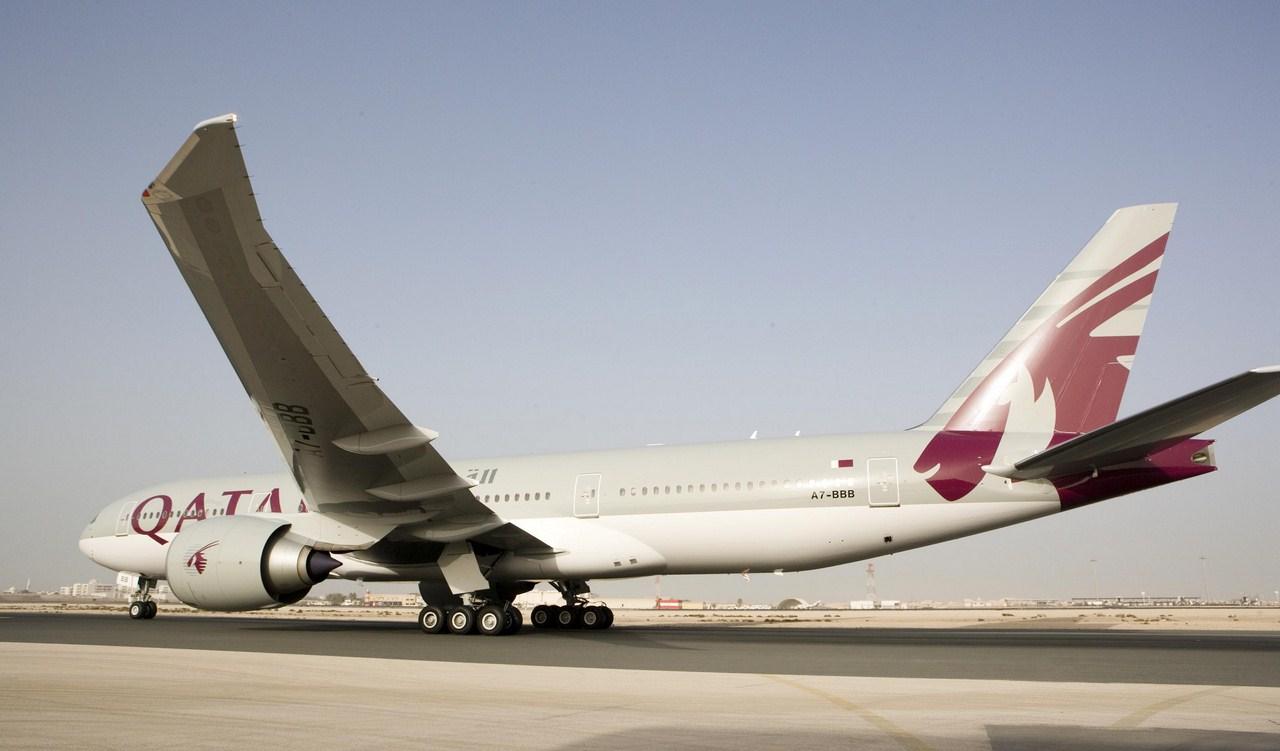 Armada Boeing 777 milik Qatar Airways.