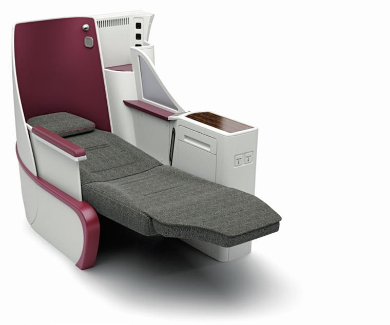 Kursi kelas bisnis baru armada A320 Qatar Airways dengan tempat penyimpanan lebih banyak.