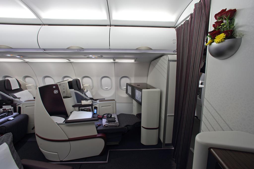 Kursi kelas bisnis baru A320 yang bisa disulap menjadi flat-bed.