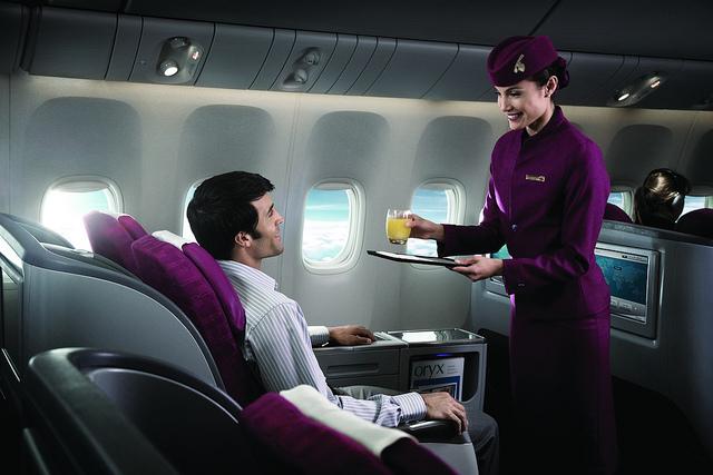 Penerbangan ke Miami menyediakan opsi kelas bisnis dan ekonomi.