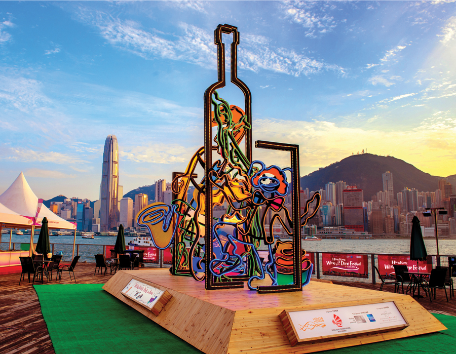 Hong Kong Pulse 3D Light Show digelar bebarengan dengan festival Wine and Dine 2014.