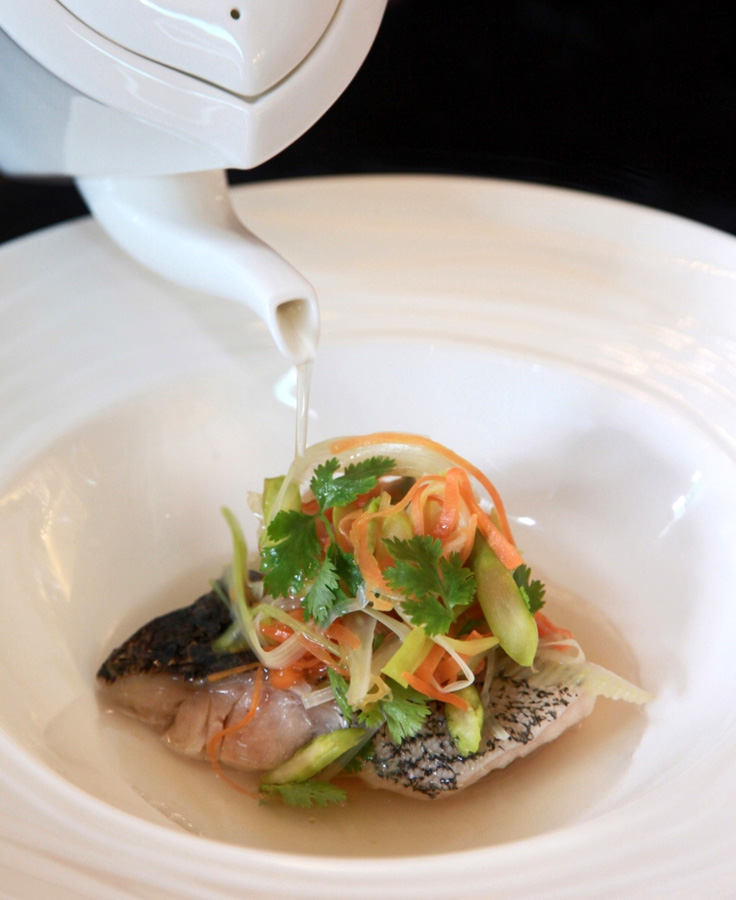 Hidangan ikan garoupa kukus yang diklaim hanya mengandung 220 kalori.