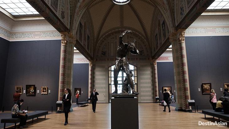 Fasad Rijksmuseum di Amsterdam, Belanda.
