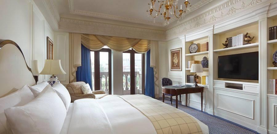 Kamar dengan amenities paripurna.