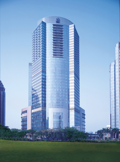 Fasad The Ritz-Carlton Jakarta, Pacific Place.