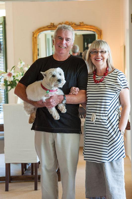Pemilik Maison de la Mer, pasangan Bruce dan Carol Hyland.