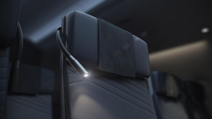 Desain kursi Premium Economy maskapai Singapore Airlines kreasi JPA Design.