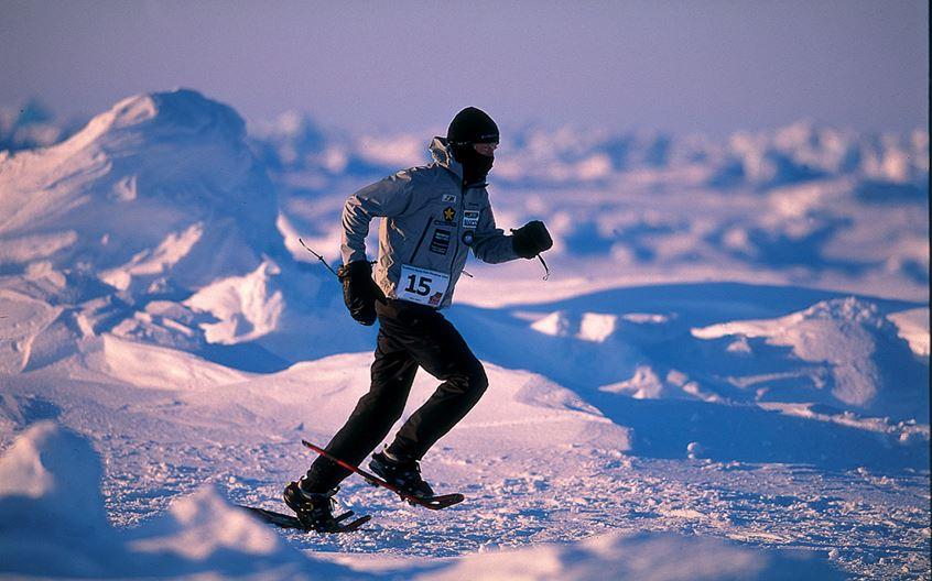 Sean Burch, juara pertama dalam North Pole Marathon 2004. Foto: North Pole Marathon.