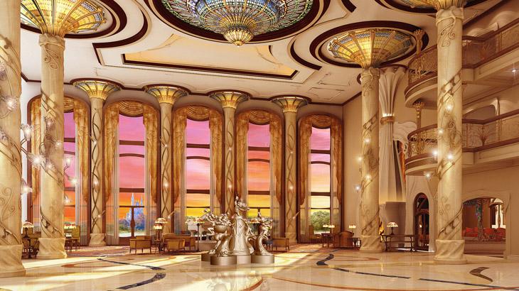 Hotel Shanghai Disneyland yang mengusung tema Art Nouveau.