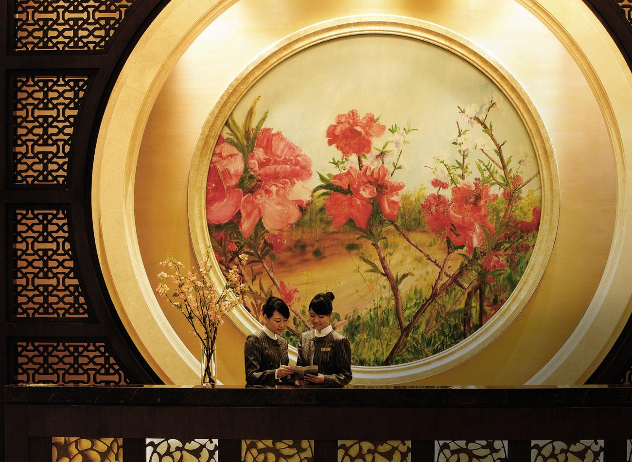 Resepsionis di Shangri La Futian, Shenzhen.