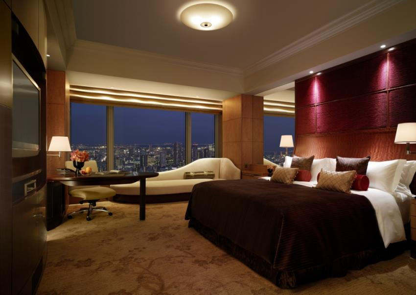 Kamar dengan pemandangan lanskap Ibu Kota Jepang.