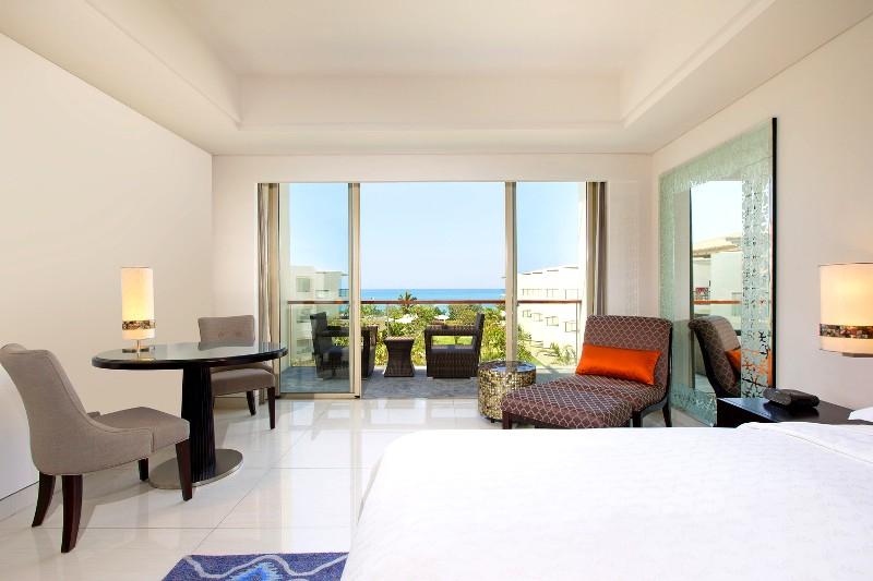 Kamar dengan pemandangan Pantai Kuta.