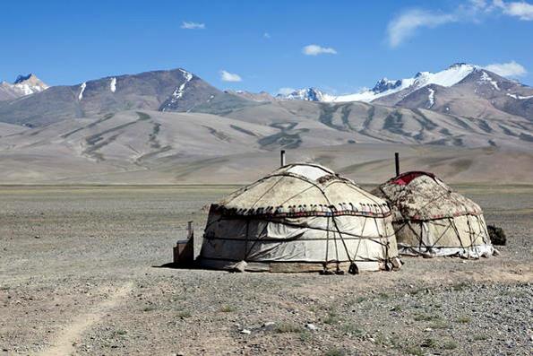 Taman Nasional Tadjik di Pengunungan Pamir.