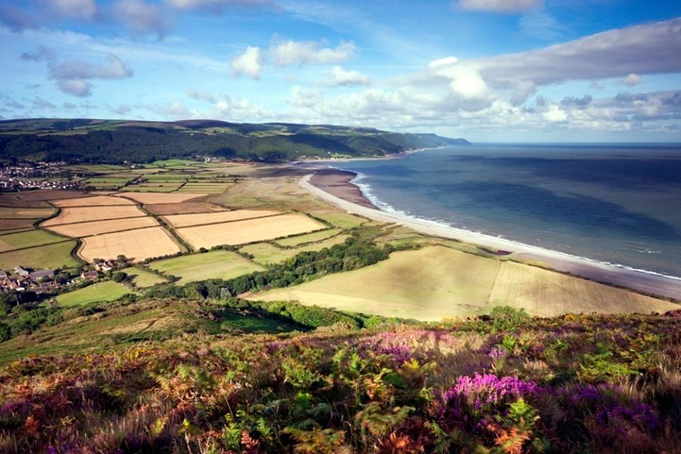 Daerah pesisir di sebuah taman nasional di barat daya Inggris.