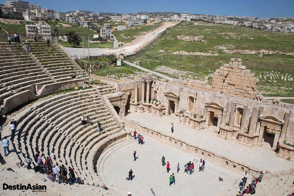 Teater kuno di Jerash.