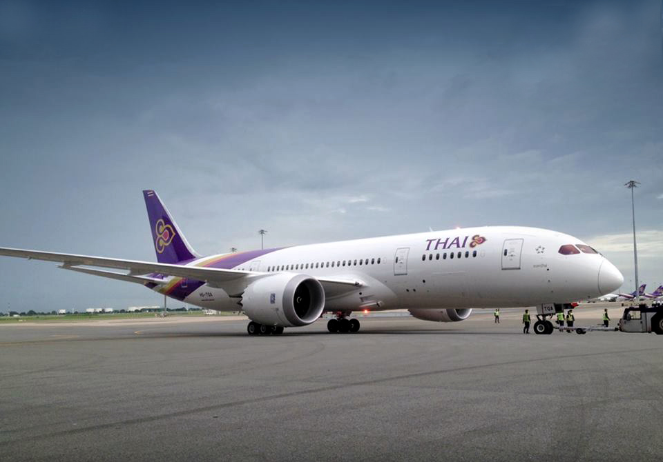 Armada baru Boeing 787 Dreamliner milik Thai Airways.