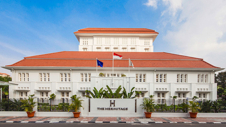 Gedung The Hermitage Jakarta merupakan bekas kantor telekomunikasi pemerintah Belanda.
