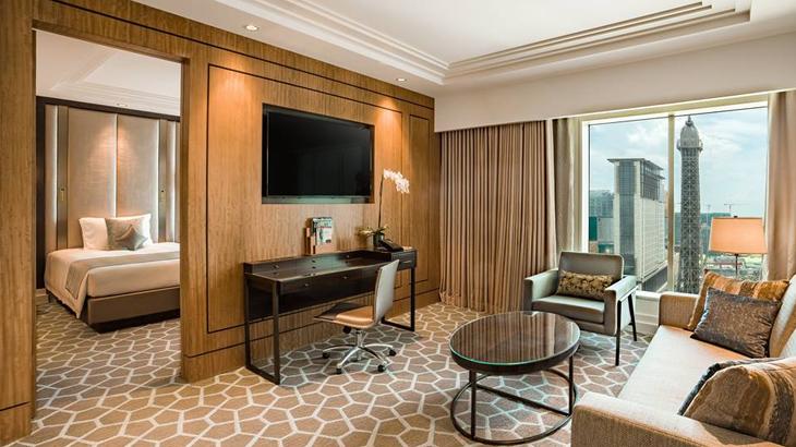 Suite dengan luas mulai dari 72 meter persegi.
