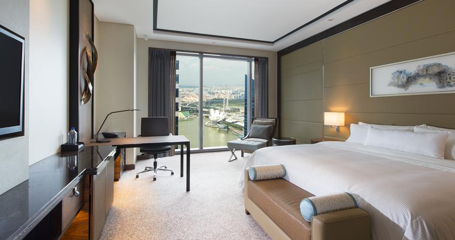 Kamar dengan pemandangan Marina Bay Sands.