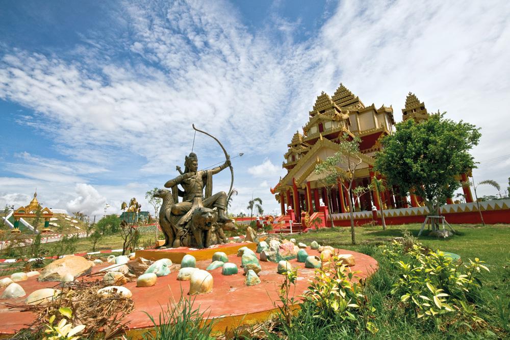 Patung Raja Pyu Saw Hti di Taman Nasional Naypyidaw. Foto: Kementerian Pariwisata Myanmar.