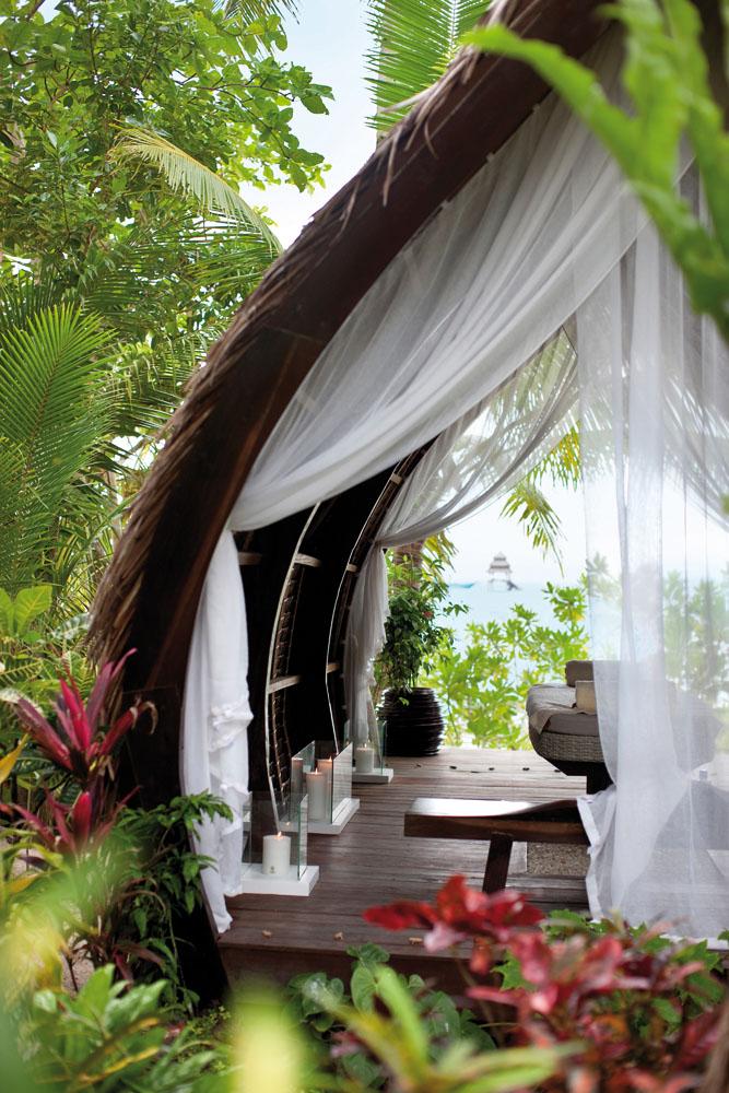 Pondokan spa di Dedon Island.