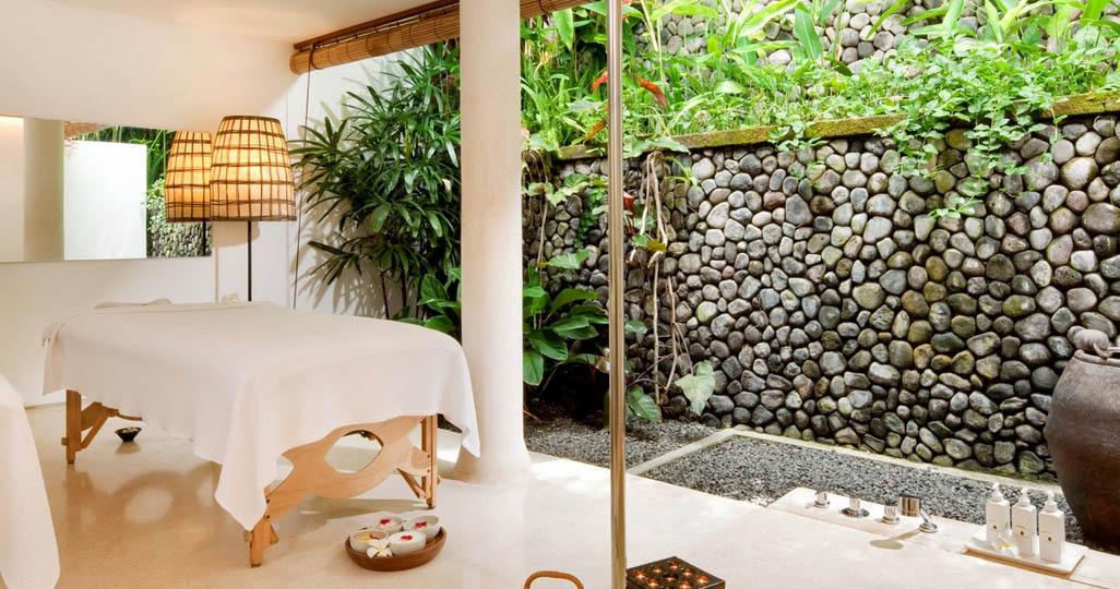 Salah satu ruang spa di Shambala Retreat.