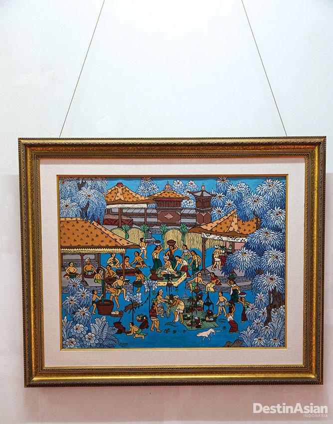 Lukisan bertajuk Upacara Perkawinan karya Nyoman Cakra, murid pertama Arie Smit.