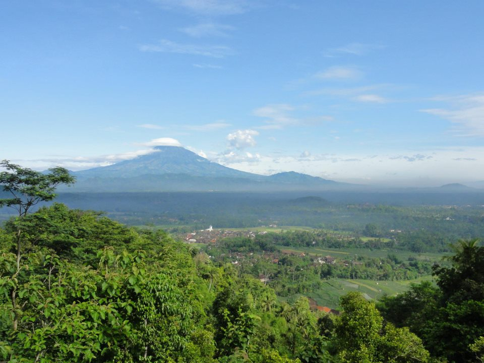 Pemandangan dari Villa Borobudur.