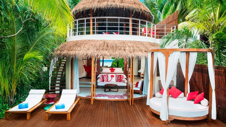 Kamar Wonderful Beach Oasis di W Maldives.