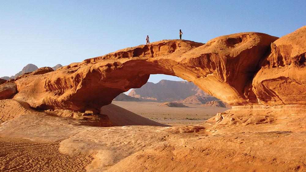 Penampakan Wadi Rum yang eksotis.