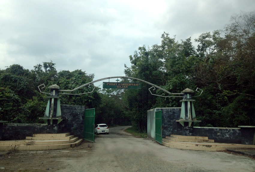 Gerbang menuju pusat konservasi. (Foto oleh Saiful Azhar)