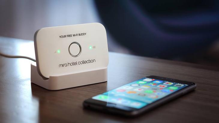 Modem portabel yang bisa digunakan oleh tamu sepuasnya.