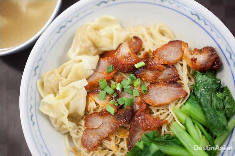 Hidangan mi Yap Kee Wanton.