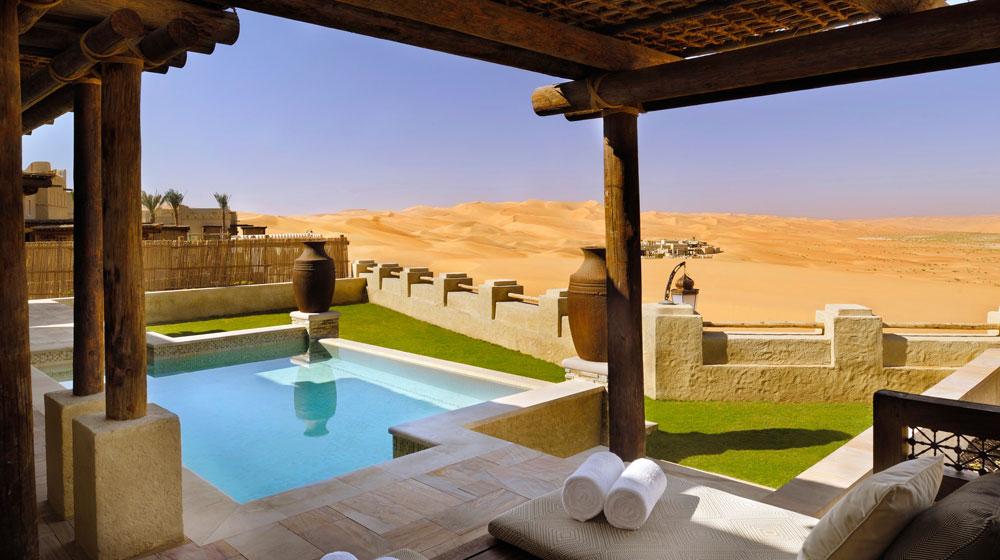 Menikmati pesona padang pasir di Anantara Qasr Al Sarab, Abu Dhabi.