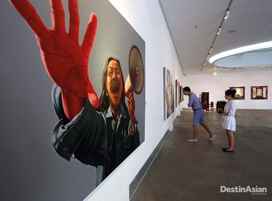 Pameran seni di Art:1, kompleks yang didesain untuk pameran berskala besar.