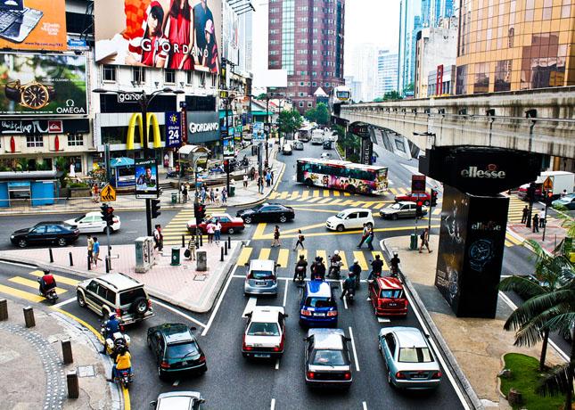 Bukit Bintang, salah satu pusat perbelanjaan di Kuala Lumpur.