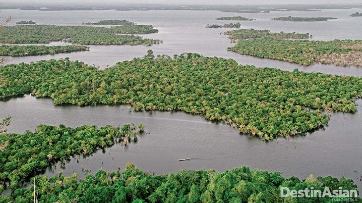 danau sentarum di musim basah
