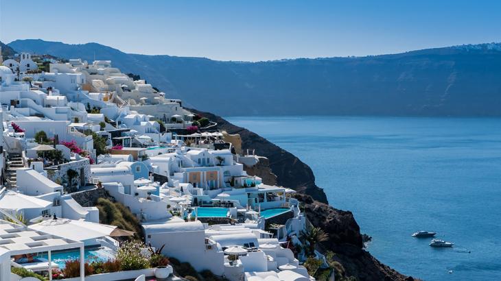 orang gemuk santorini, 10 Objek Wisata Terbaik di Santorini