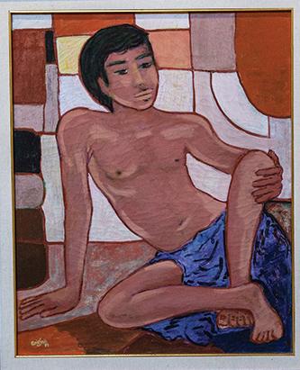 Lukisan berjudul Dreaming Boy kreasi Arie Smit.