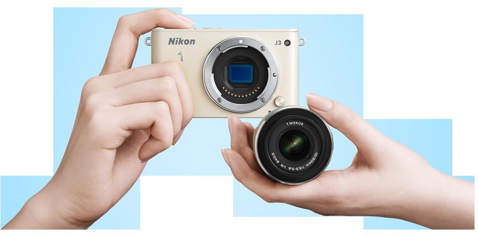 Nikon 1 J3 tersedia dalam warna-warna feminim.