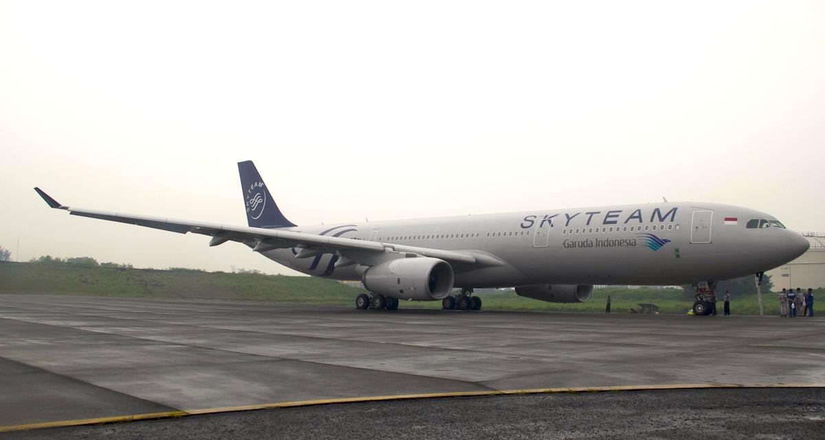 Armada Airbus 330 milik Garuda Indonesia yang melayani rute Jakarta-Tokyo.