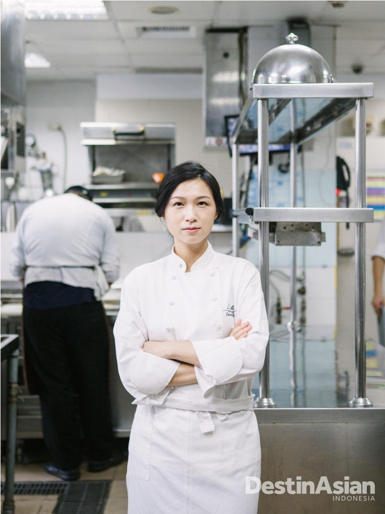Lensu Cheng, komandan dapur Le Mout adalah salah satu koki wanita paling disegani di Asia. (Foto: Muhammad Fadli)