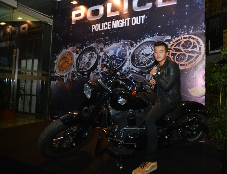 Dion Wiyoko saat peluncuran koleksi Police 2015.
