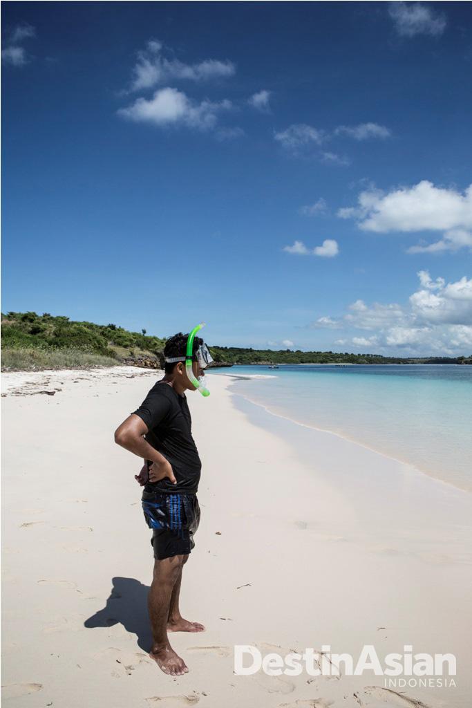 Pantai Segui, salah satu titik snorkeling di Jeeva Beloam Beach Camp.