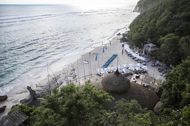 Karma Beach Club dilihat dari atas. Foto: Putu Sayoga.