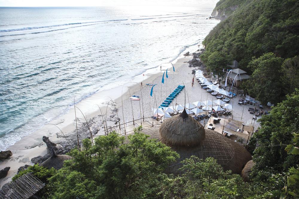 Karma Beach Bali dilihat dari atas.