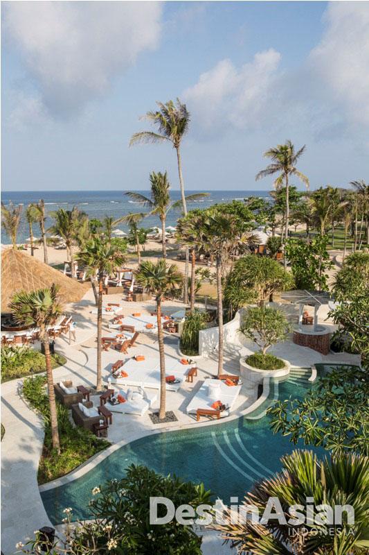 Nikki Beach menawarkan pemandangan Samudera Hindia.
